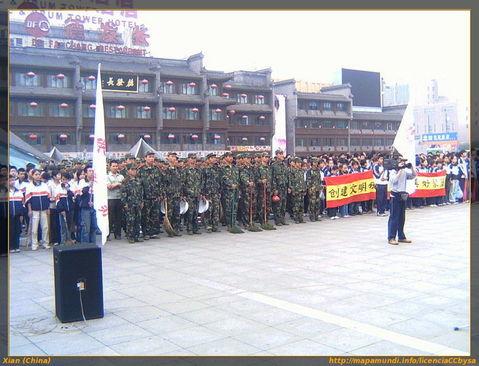 Día de la limpieza en Xian.