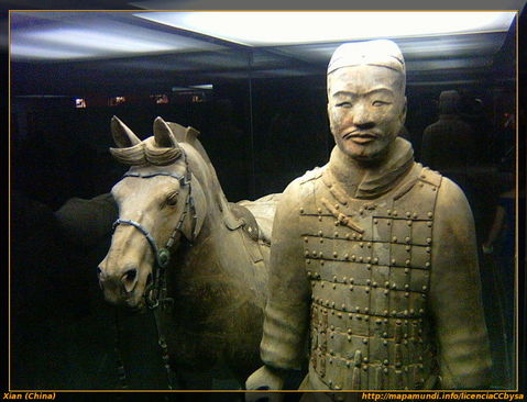 Guerrero de terracota, Xian (China)