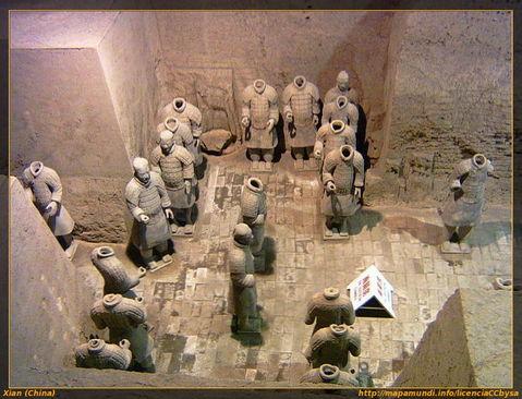 Guerreros de terracota en Xian.