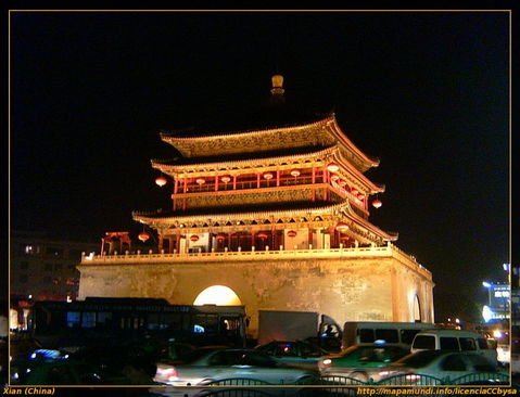 Torre de la campana en Xian.