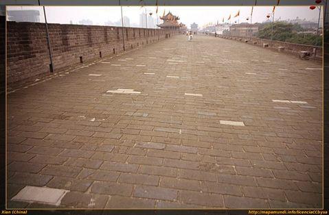 Muralla de la ciudad en Xian.