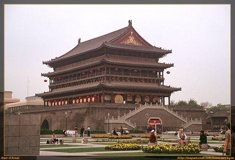 Torre del tambor en Xian.