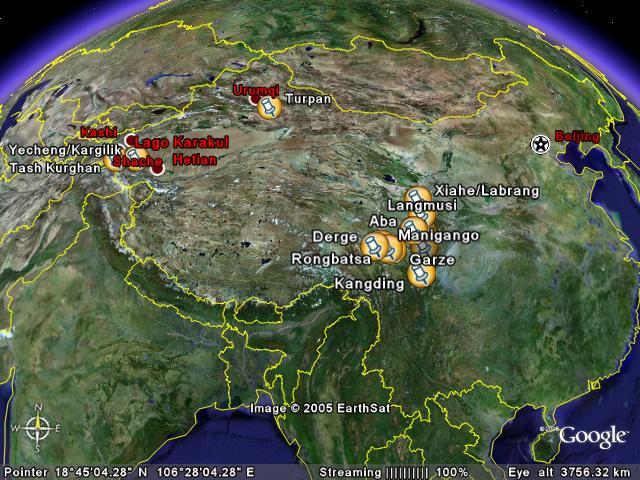 Lugares que visitaré en China en el Viaje de 2005