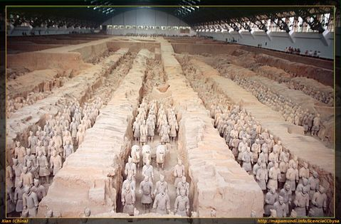 Nave principal de los guerreros de terracota en Xian