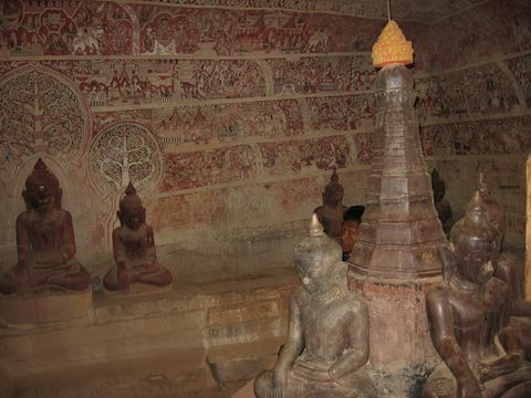 A las cuevas de Hpo Win en Monywa